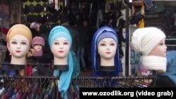 Өзбекстанда әйелдерге ресми ұсынылған бас киім үлгілері. (Көрнекі сурет.)