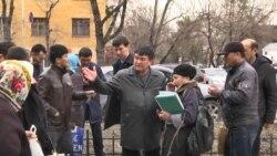 Алматыдағы борышкелер наразылығы