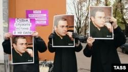 Пикет в защиту Михаила Ходорковского в Москве