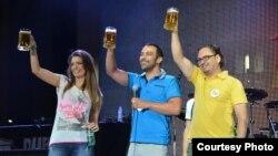 Отворање на Пиво фест во Прилеп 2012. Градоначалникот Марјан Ристески.