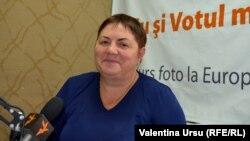 Profesoarea Maria Roibu în studioul Europei Libere