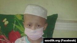 9-летний Хайитмурод, страдающий лейкемией.
