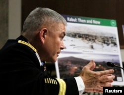 "U.S. Army General John Campbell says Islamic State has a ""nascent"" presence in Afghanistan."