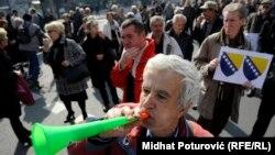 Antivladini protesti u Sarajevu, ilustrativna fotografija