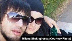 Уроженец Астаны Руслан Шахгиреев с женой Миланой (Натальей) Шахгиреевой - за два года до его тюремного заключения. 2011 год.