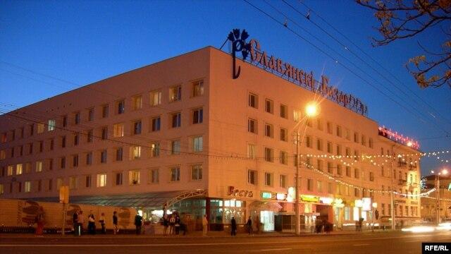 Так званы «Сіні дом» у цэнтры Віцебску, дзе меркавалі правесьці акцыю 19 сьнежня.
