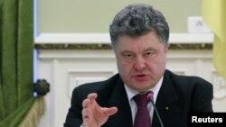 Президент Украины Петр Порошенко. Киев, 22 декабря 2014 года.