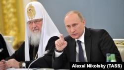 Патриарх РПЦ МП Кирилл и Владимир Путин