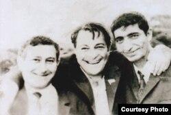 Fikrət Qoca (sağda) Rəşid Behbudov və Oqtay Kazımovla