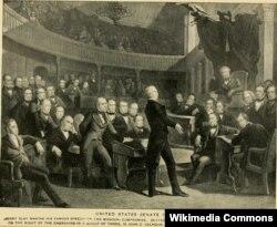 Генри Клей выступает в Сенате. Рисунок Генри Девенпорта Нортропа. 1900