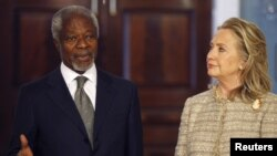 Кофи Аннан и Хиллари Клинтон