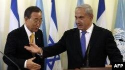 Pamje nga takimi i sotëm ndërmjet Ban dhe Netanyahu