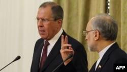 سرگئی لاوروف در جریان دیدار یک روزه اش از ایران و دیدار با علی اکبر صالحی، وزیر خارجه