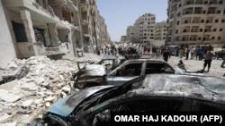 Eksplozija u idlibu, Sirija, fotoarhiv
