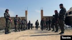 Военная база близ Алеппо, используемая поддерживаемыми Ираном бойцами.