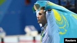 200 метрге брасс әдісімен жүзу жарысынан Рио олимпиадасының чемпионы Дмитрий Баландин. Бразилия, Рио-де-Жанейро, 10 тамыз 2016 жыл.