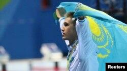 Олимпийский чемпион казахстанец Дмитрий Баландин, выигравший золото в заплыве на 200 метров брассом. Рио-де-Жанейро, 10 августа 2016 года.