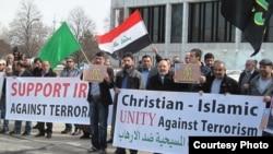 أبناء الجالية العراقية في ميشيغان يتظاهرون ضد الإرهاب