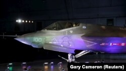 A Lockheed Martin F-35 Lightning II fighter jet