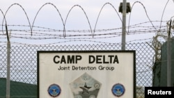 The exterior of Camp Delta in Guantanamo Bay.