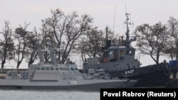 Ələ keçirilmiş Ukrayna gəmiləri