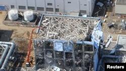 Фотографія частини території АЕС «Фукусіма-1» після катастрофи, 24 березня 2011 рік