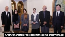 Afghan President Mr. Gahani meets Naamora family 12/7/2019 ولسمشر غني د ناکامورا کورنۍ سره لیدلي