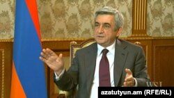 "Armenia - A video grab of President Serzh Sarkisian's interview with ""The Wall Street Journal,"" 9Nov2012 (www.wsj.com)."