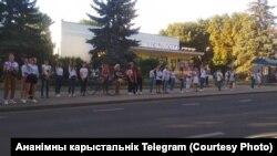 Ланцуг салідарнасьці ў Ваўкавыску, 12 жніўня 2020