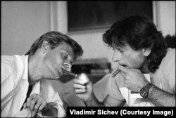 Роман Полански и Михаил Барышников