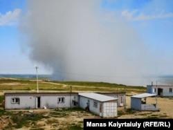 Алматы қалалық тұрмыстық қалдықтар полигонындағы өрт. 16 мамыр 2019 жыл.