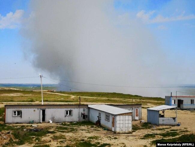 Пожар на полигоне бытовых отходов в Алматы, 16 мая 2019 года.