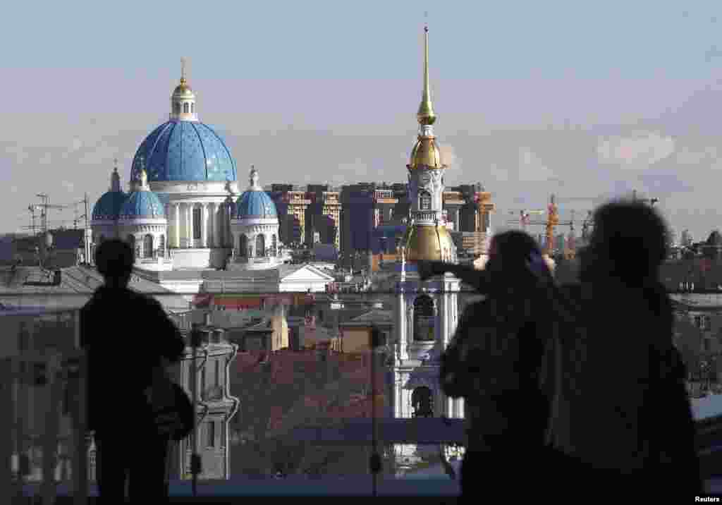 The terrace of the Mariinsky II Theater provides a panoramic view of St. Petersburg, and organizers expect to host chamber music events there when the weather allows.