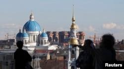 Вид на Санкт-Петербург с террасы нового здания Мариинского театра