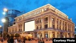 Идејно решение за изгледот на фасадата на објект во центарот на Скопје (некогашна НАМА).