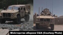 Бронемашини компанії Oshkosh Defense JLTV (ліворуч) і MATV (праворуч)