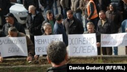 Sa protesta radnika FAP-a, Priboj, februar 2016.