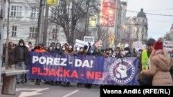 Protest frilensera u Beogradu