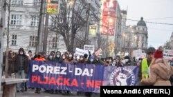 Protest radnika na internetu i drugih frilensera u Beogradu, 16. januar