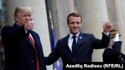 Donald Trump și Emmanuel Macron