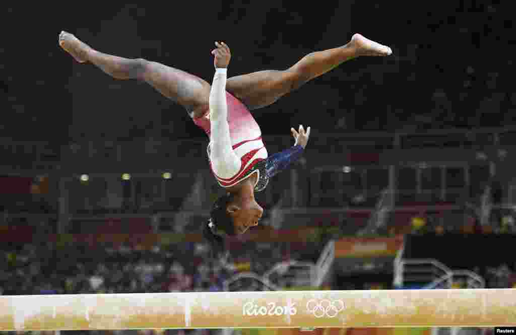 U.S. gymnast Simone Biles, 19, wowed audiences and judges with her dynamic and creative performances -- earning her four gold medals.