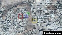 Тәлбисидә Русия бомбалары төшкән урыннар