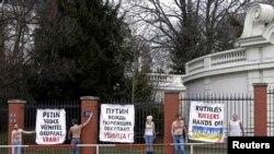 Акція протесту проти агресії Росії в Україні у Празі