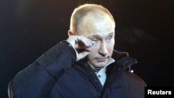Владимир Путин на Манежной площади, 4 марта 2012 года