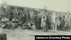 Эвакуация голодающих со станции Оренбург.