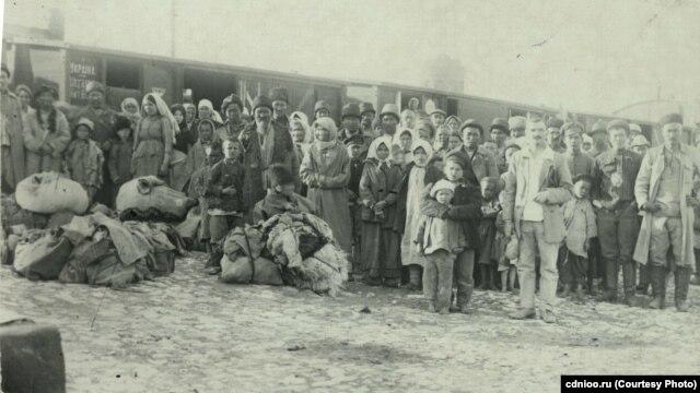 Эвакуация голодающих с ж/д станции Оренбург