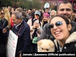 Джамала на марше за права животных, 15 октября 2017 года