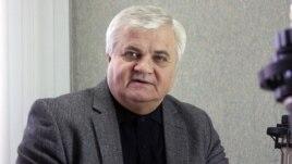 Anatol Țăranu în studioul Europei Libere la Chișinău