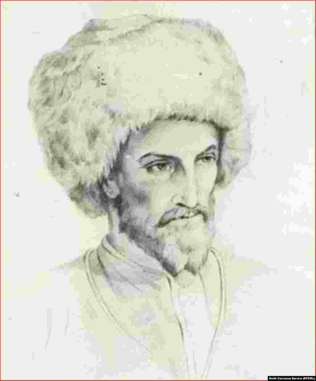 Наиб Мирза Хазьяо - письмоводитель Шамиля. Богатырев И.С., кон.1920-х - нач.1930-х гг.