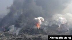 Չինաստան - Տյանձին քաղաքը պայթյունից հետո, 13-ը օգոստոսի, 2015թ․